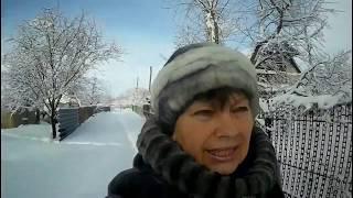 Красивая зима на даче!