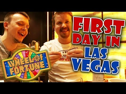 First day in Las Vegas + Wheel of Fortune slot