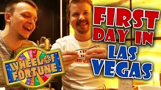 First day in Las Vegas + Wheel of Fortune slot | Vlog 27