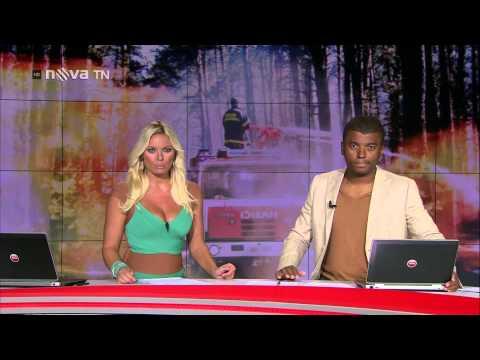 Lucie Borhyová   Televizní Noviny Nova TV 21 7 12 HDTV)
