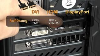 VGA, DVI, HDMI oder DisplayPort - Was ist der beste Anschluss für die Grafikkarte am PC?