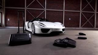Porsche 918 Spyder Luggage set from Porsche promotional video