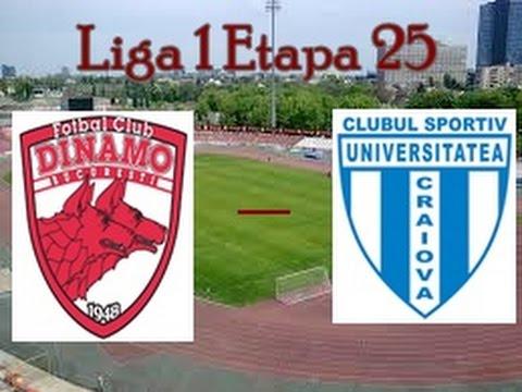 Liga 1 - FC Dinamo vs CSU Craiova 25 Februarie 2017 Meci ...   Dinamo Craiova