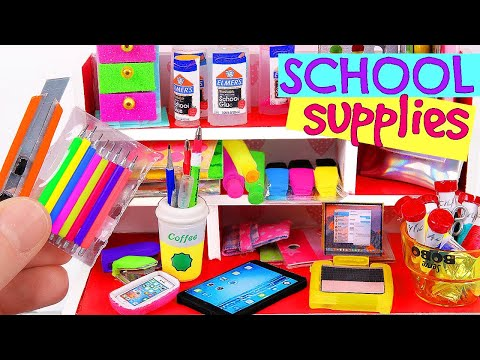 7 DIY Miniature School Supplies