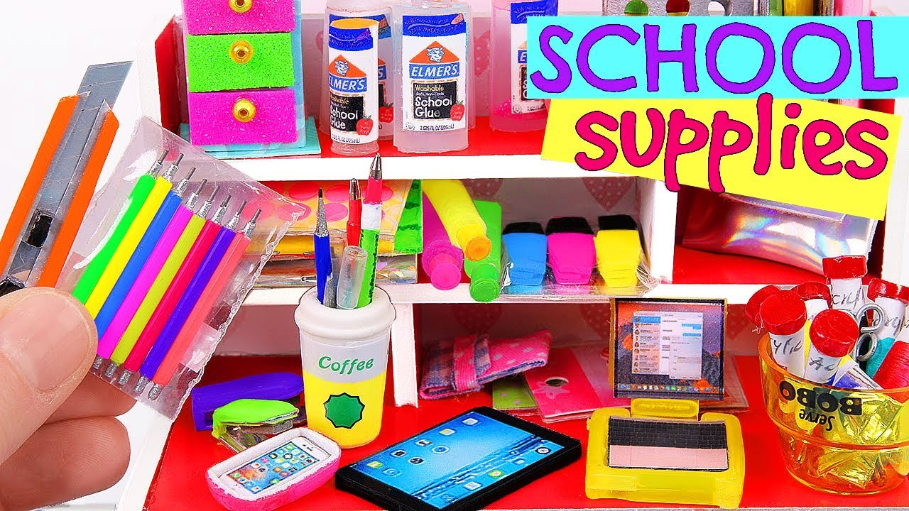 7 diy miniature school supplies youtube