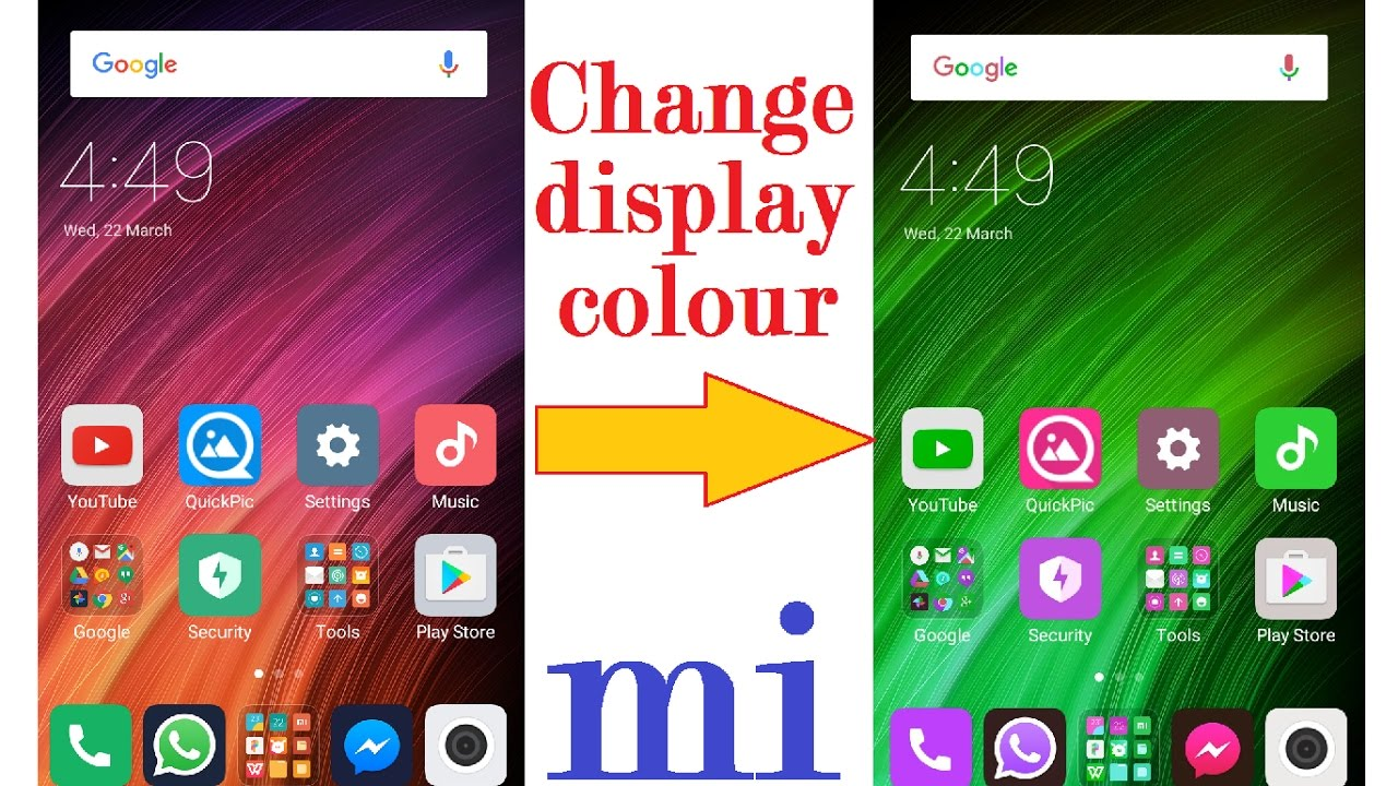 change display color of your mobile   tips and tricks in HINDI/URDU ...