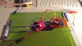 Arduino curtains: control DC-motor using L298N, JY-MCU Bluetooth and DIY pcb