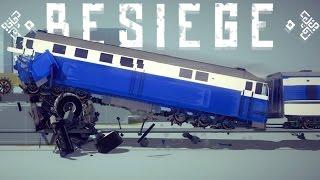 Besiege Best Creations - Largest Mega Ramp, High Speed Train Crashes & More! - Besiege Highlights