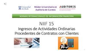 NIIF 15 Ingresos de contratos con clientes (resumen)