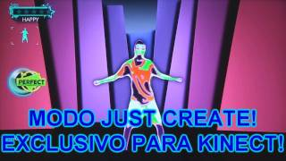 "Just Dance 3 (Pt-Br) - Xbox 360/Kinect - Modo ""Just Create"" - CJBr"