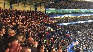 Manchester United away fans vs Chelsea singing Ole's at the wheel 🎶
