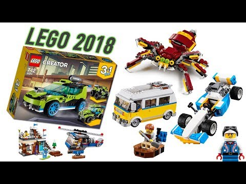 all new lego creator 2018 sets pictures youtube. Black Bedroom Furniture Sets. Home Design Ideas