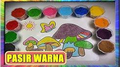 Mewarnai Gambar Jamur Dengan Pasir Warna Belajar Cara Warnai Dengan