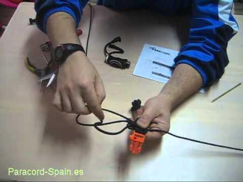 Como hacer una pulsera de paracord de desmontaje i
