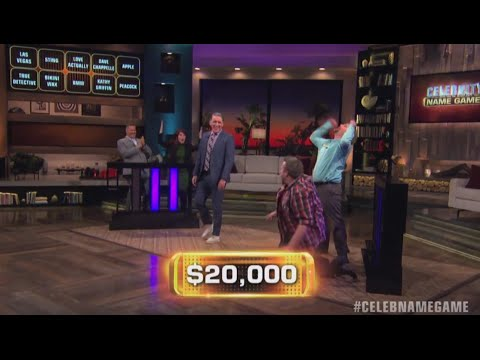 AMAZING WIN by Kate Flannery & Ross Mathews | Celebrity Name Game