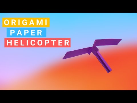 How To Make an Origami Paper Helicopter || Easy Origami Paper Craft