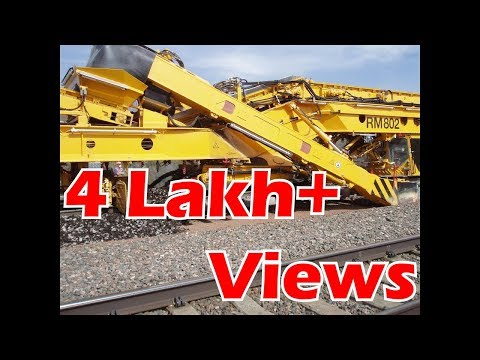 New Track Construction machine (NTC) in Indian railway