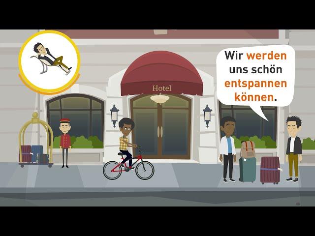 Deutsch lernen | Im Hotel in Berlin! | Redemittel und Wortschatz zum Thema Urlaub!