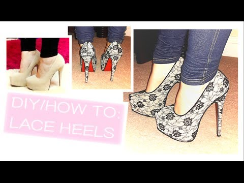 0212bf8b04c7 DIY  How to add lace to your High Heeled Shoes on a Budget