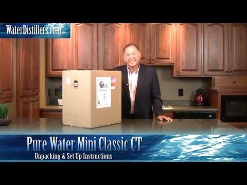 Pure Water Mini Classic CT Countertop Water Distiller (46998) Setup Instructions