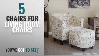 Top 10 Chairs Chairs For Living Room [2018]: Best Choice Products Modern Contemporary Upholstered