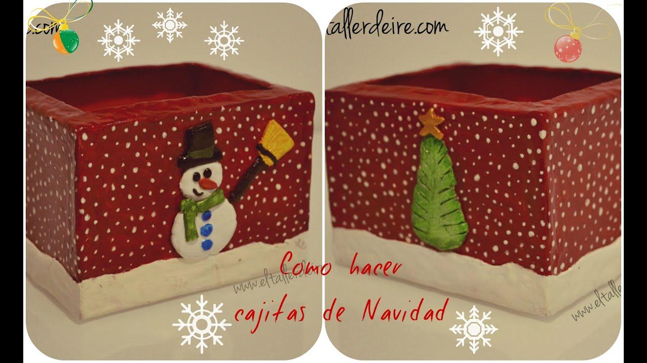 C mo hacer cajas de navidad youtube - Como hacer cosas de navidad ...