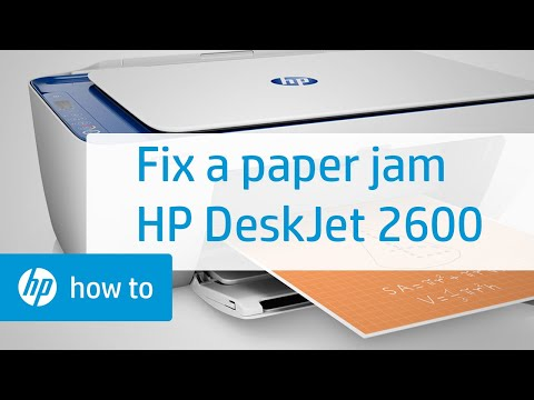 How To Fix A Paper Jam On The HP DeskJet 2600 All-in-One Printer Series | HP DeskJet | HP