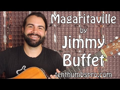 Margaritaville - Jimmy Buffet - Easy Beginner Acoustic Guitar Tutorial