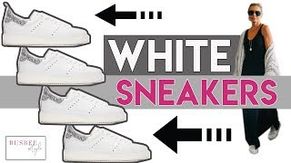 3 Ways to Wear White Sneakers