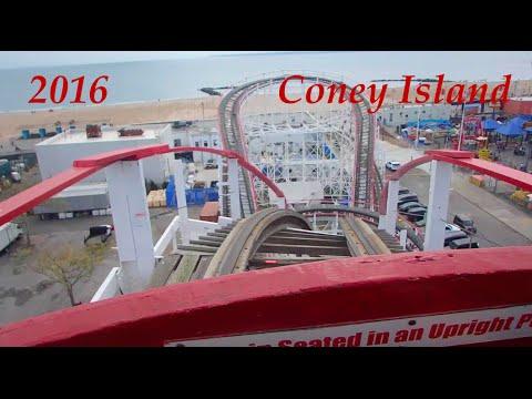 Coney Island Fun Day!! Ride on Historical Cyclone and Wonder Wheel 2016 HD Brooklyn, NY