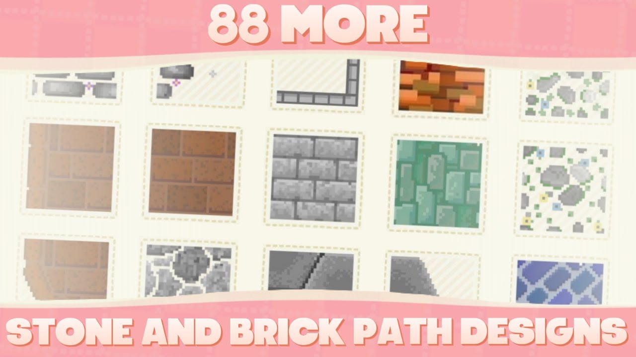 Top 85 Custom Brick Path Designs For Animal Crossing New Horizons Youtube