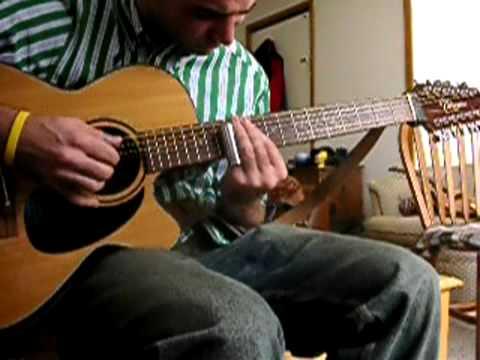 colours 12 string slide guitar