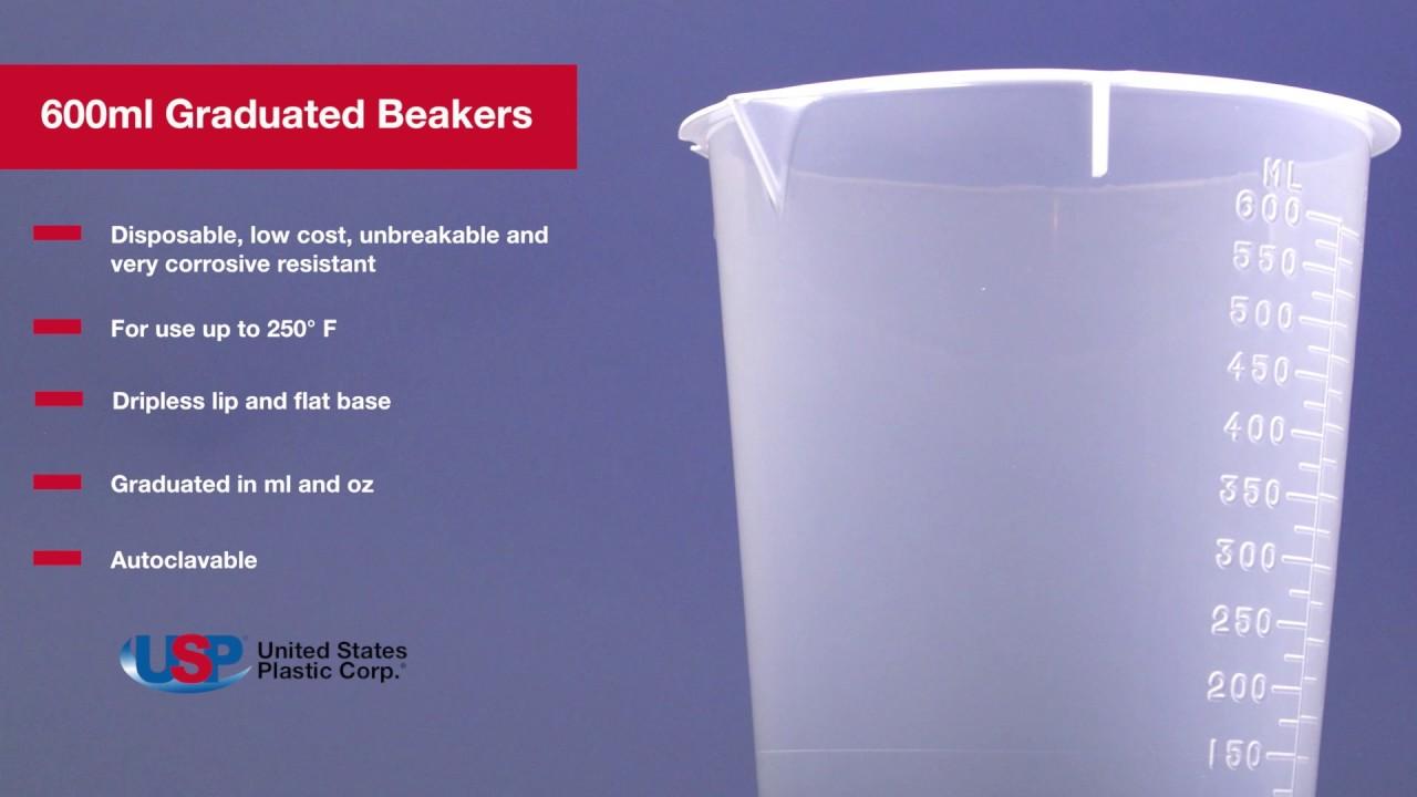 600ml Graduated Beaker U S Plastic Corporation Youtube