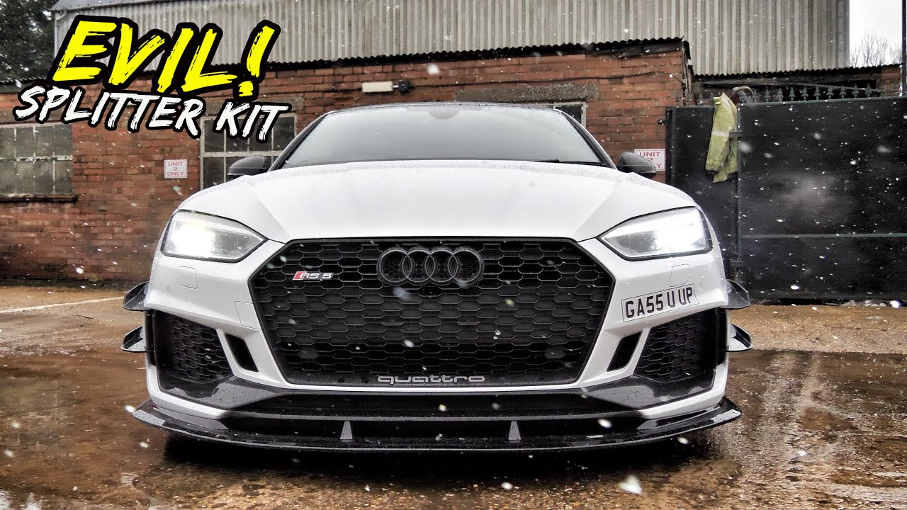 CHECK OUT THE RS5'S ULTRA AGGRESSIVE *DARK GHOST* SPLITTER KIT!!