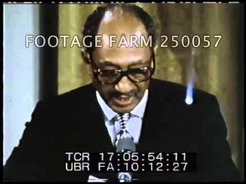 President Carter, Camp David Treaty Signing W/ Sadat \u0026 Begin 250057-06   Footage Farm