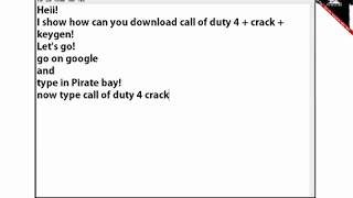 keygen cod4 download
