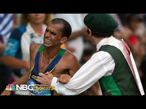 LOOK OUT! Rogue spectator tackles Olympic marathon leader in final miles (Athens 2004)   NBC Sports