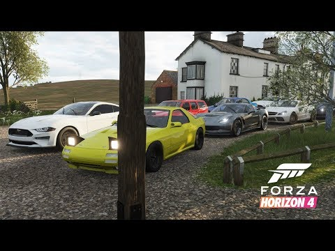 Forza Horizon 4 | 900+HP Street Car Meet - Cruise & HWY Runs w/ LS3 RX7 FC, Mustang, Vette, & More thumbnail