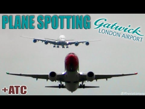 Plane Spotting at London Gatwick Airport | Heavy Landings & Takeoffs 747 (A380 787 777 767 with ATC)
