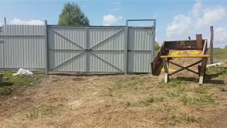 Обзор хозяйства // новые ворота // видеонаблюдение