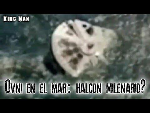 Encuentran ovni flotando en el mar idéntico al Halcon Milenario de Star Wars