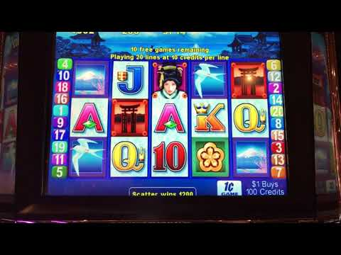 Geisha Slot Machine - 15 Free Games Bonus