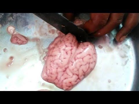 Goat Brain Cleaning & Cutting