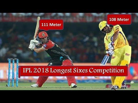 5710677ce9b9 Longest Sixes IPL 2018
