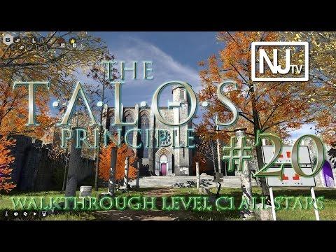 The Talos Principle Walkthrough Level C2 (1/1 Star + 2 Easter Eggs)