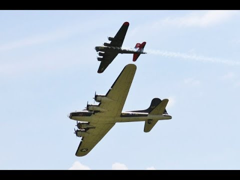 GIANT SCALE DUO RC BOEING B-17 FLYING FORTRESSES - 17ft SPAN - LMA EAST KIRKBY - 2017