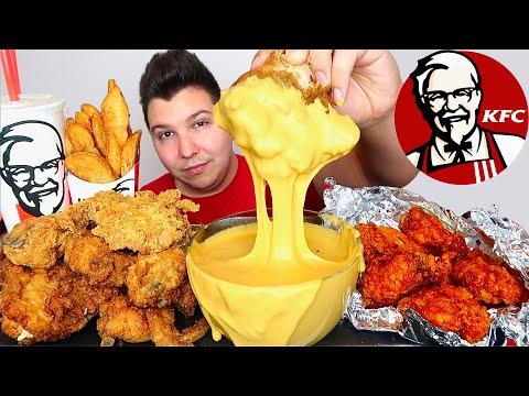 KFC CHICKEN With CHEESE SAUCE • Mukbang & Recipe