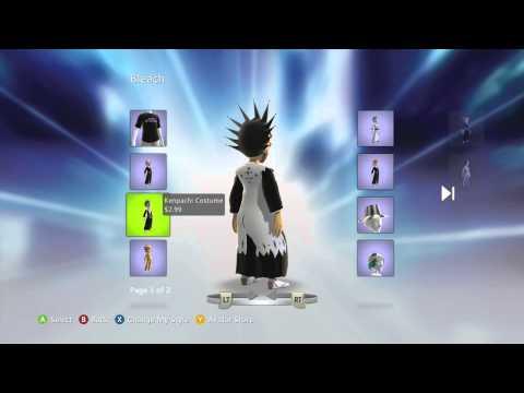 Bleach Xbox Live Marketplace Avatar Items