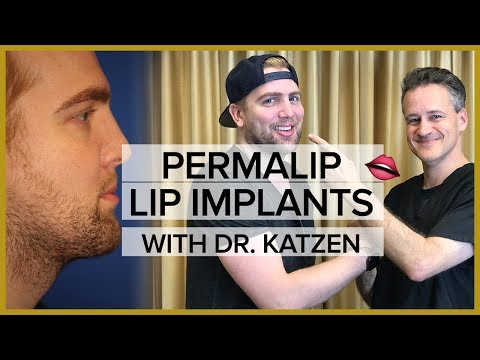 Permalip Lip Implant on a Male Patient - Transformation Tuesday with Dr. Katzen