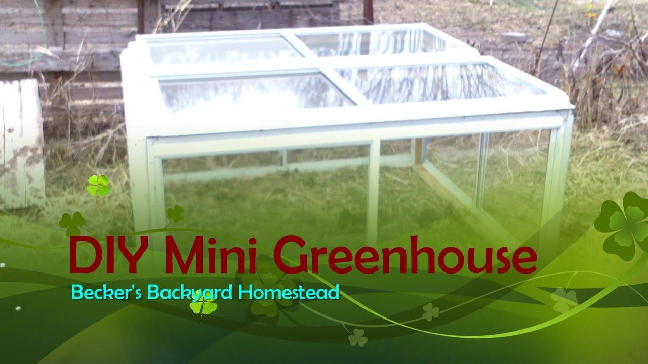 Diy Mini Greenhouse Youtube